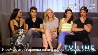 the vampire diaries interview at comic con 2013 рус суб