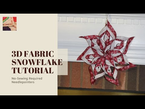 How to Make a 3D Fabric Snowflake