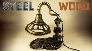 Настольная лампа своими руками(Настольная лампа из деталей от мотоцикла