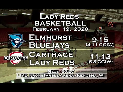 Carthage Women's Basketball Vs. Elmhurst 2020_2_19