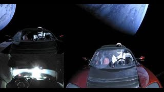UFO Fleet caught near Tesla Roadster in Space thumbnail