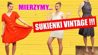 MIERZYMY SUKIENKI VINTAGE Z LATO 80-TYCH I 90-TYCH!