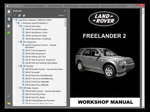 land rover freelander l359  service manual  wiring diagram  owners  manual