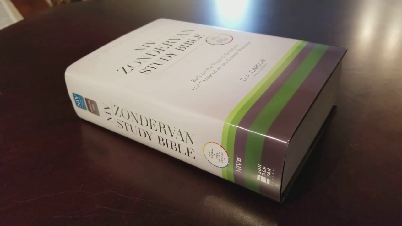 March 2018 Giveaway Bible! NIV Zondervan Study Bible (hardback) - BE  ELIGIBLE!