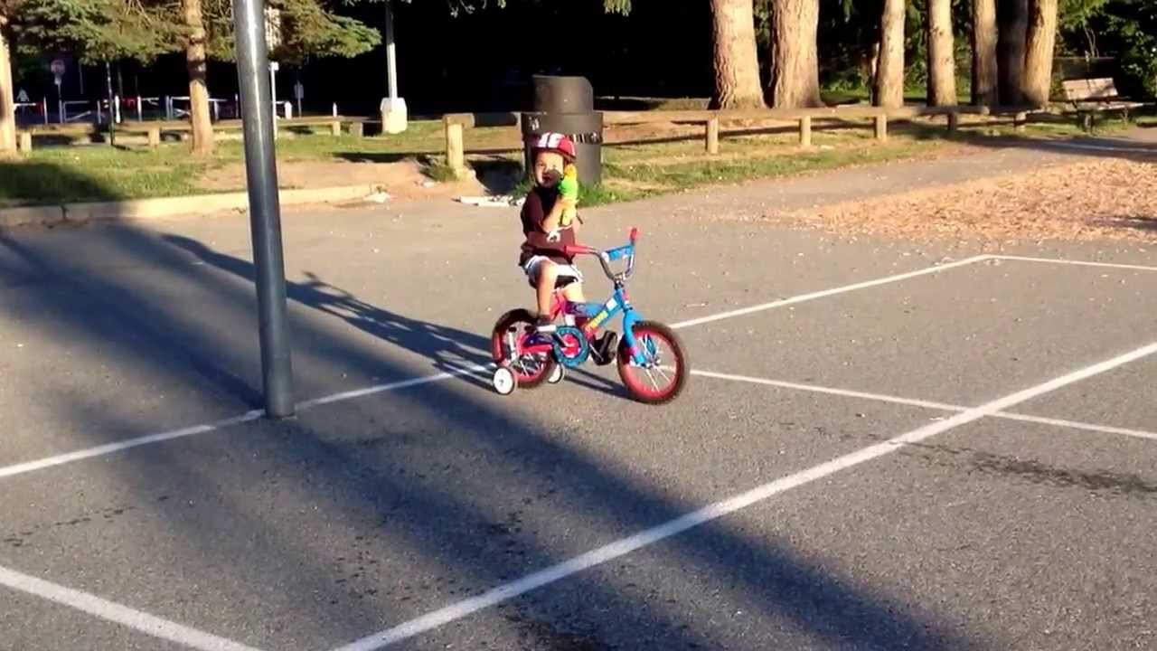 Ethan With His Bike And Water Gun Youtube