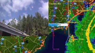 Live Flooding Radar  Hurricane Florence !  Wilmington  NC