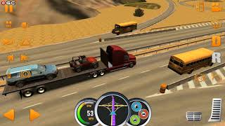 """Truck Simulator USA """"Red Big Truck"""" - MAP Miami Cargo Cars - Android Gameplay FHD"""