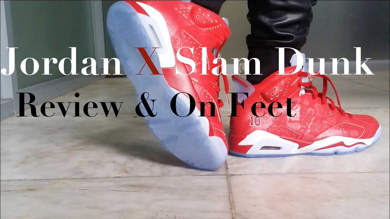 the best attitude 41e62 81020 ... new zealand air jordan 6 slam dunk review on feet youtube 75d08 9e0a3