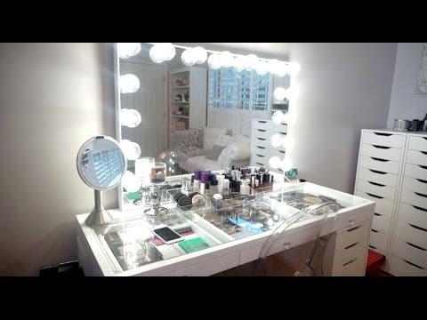 Organizing my Vanity + Late Night Filming | #VLOGMAS 12, 2016