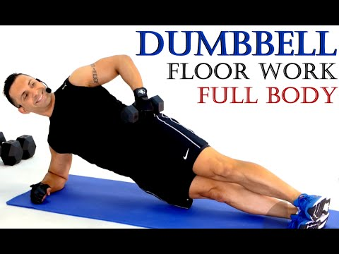 Dumbbell Training: TOTAL BODY WORKOUT (40mins) Floor Work with Coach Ali