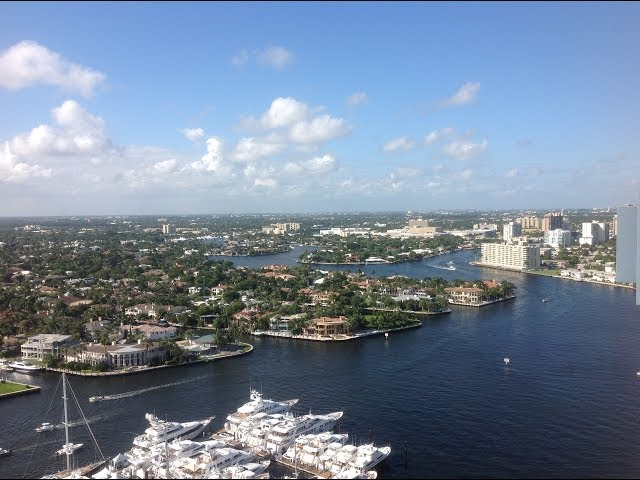 Beautiful Intracoastal views of Las Olas Isles Waterfront Homes and Yachts
