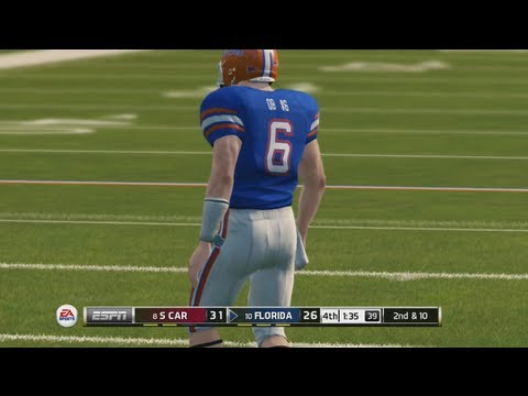 NCAA Football 14 Online Gameplay  Late Game Comeback in SEC Rivalry Game Gamecocks vs Gators