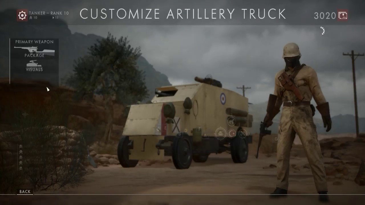 how to use the artillery truck in battlefield 1