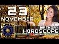 November 23 - Birthday Horoscope Personality