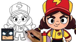 How To Draw Red Dragon Jessie   Brawl Stars