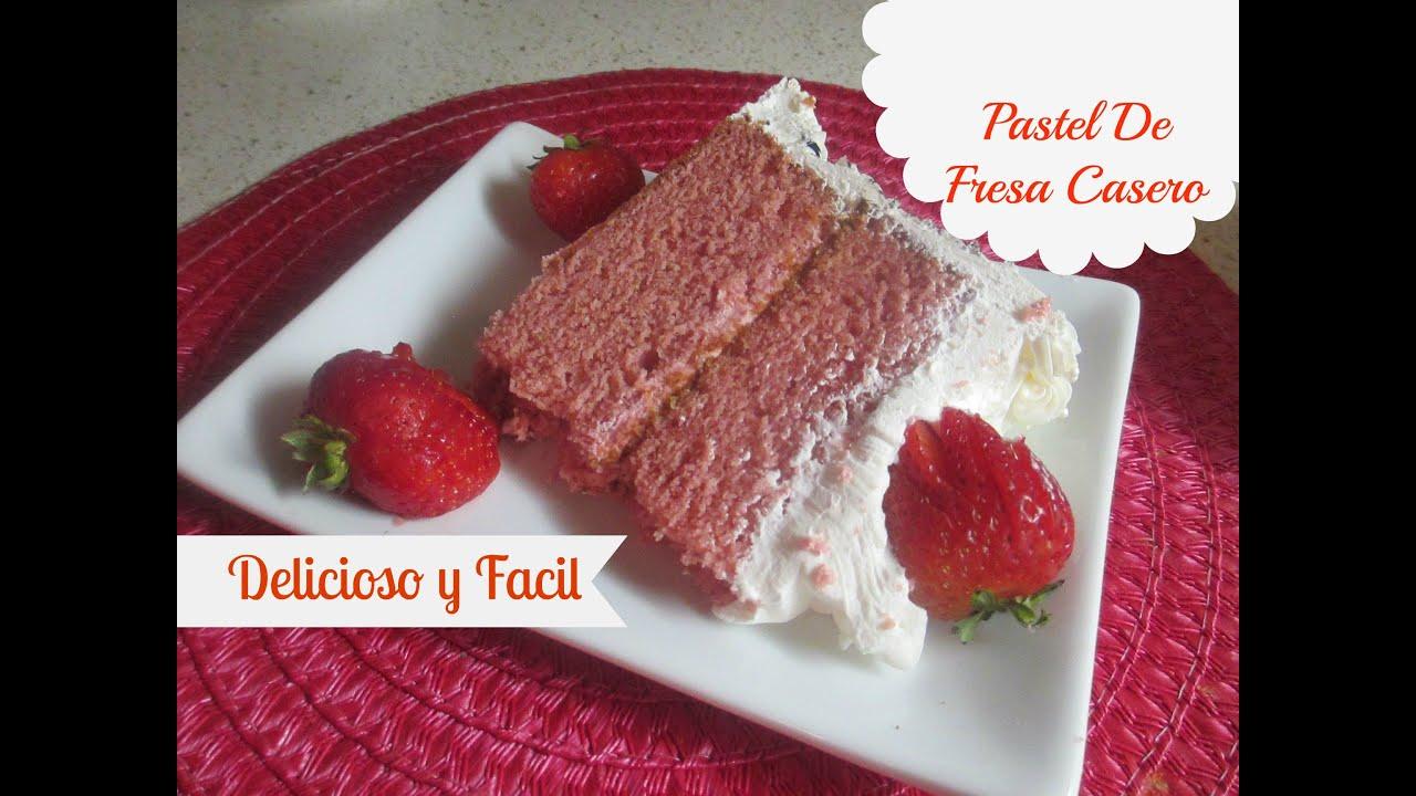 Pastel de fresa casero riqu simo y f cil de hacer for Como decorar una torta facil y economica