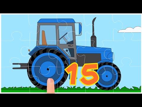Мультики про машинки - Пазл - Все серии - Трактор, Пожарная машина, Внедорожник, Эвакуатор