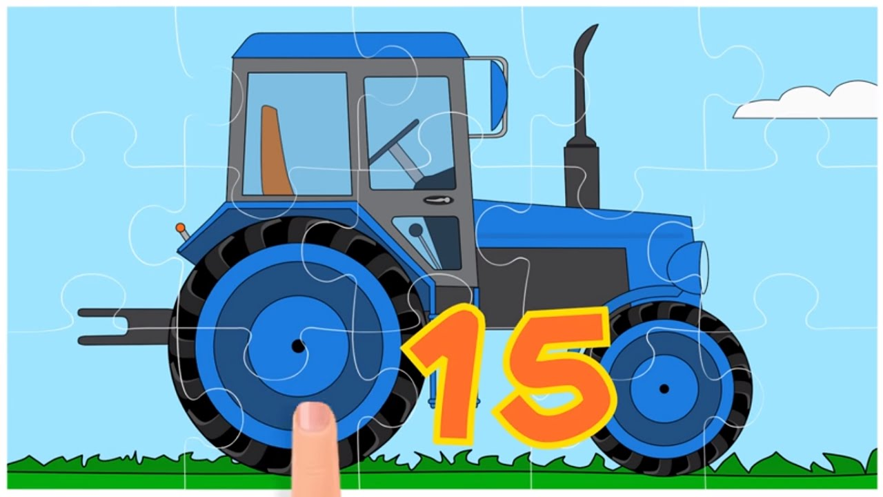 Мультики про машинки - Пазл - Все серии подряд - Тракторы ...