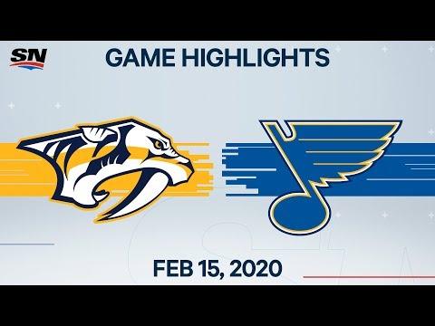 NHL Highlights   Predators Vs Blues – Feb. 15, 2020