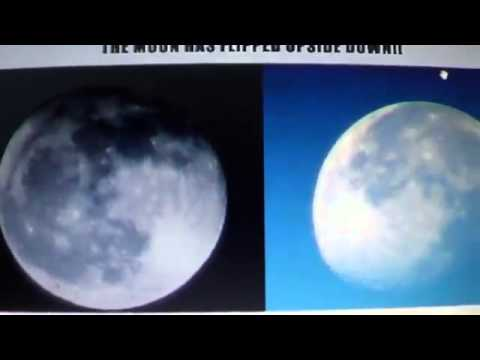 THE MOON IS TURNING ROTATING UPSIDE DOWN POSSIBLE POLE SHIFT COMING