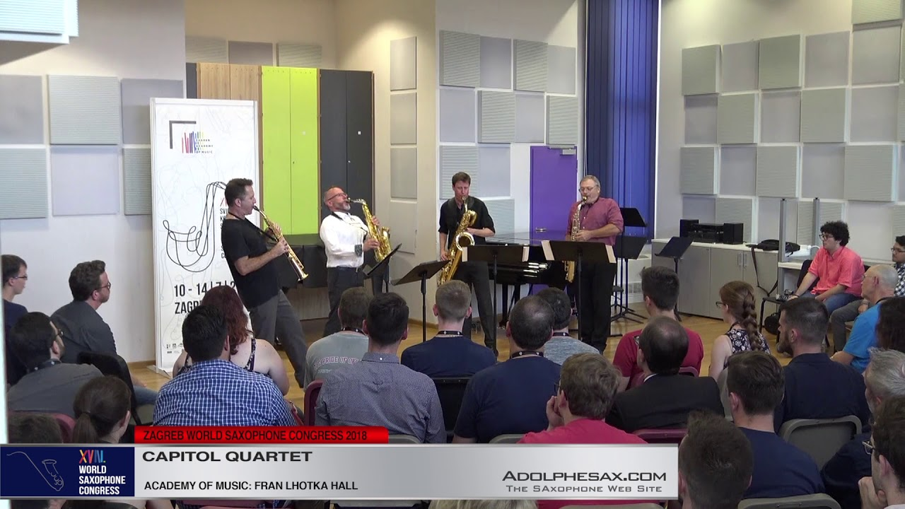 Capitol punishment by Carter Pann   Capitol Quartet   XVIII World Sax Congress 2018 #adolphesax