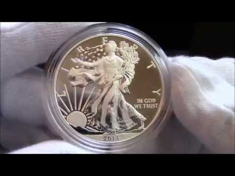 2013 - American Silver Eagle 2-Coin Set - Reverse Proof & Enhanced Uncirculated - Coin Showcase