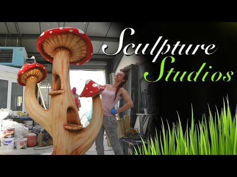 Giant Polystyrene / Styrofoam Mushrooms by Sculpture Studios