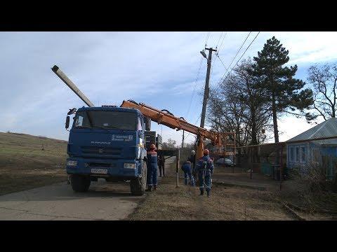 В Дубовке заменили аварийный столб после обращения жителей к губернатору