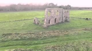 Dunwich remains of greyfriars priory. Suffolk shot with Dji phantom 3