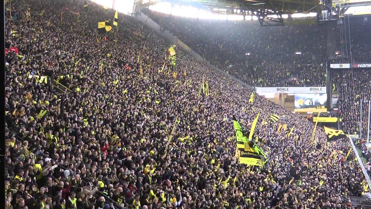 BVB - Fürth 3-1 Stimmung 17.11.2012 Borussia Dortmund Bundesliga  Südtribüne