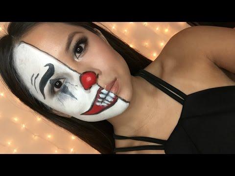 EASY Halloween Makeup | Half Clown Face Tutorial