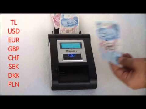 Jetcom Pro Detector II   Sahte Para Dedektörü TL,USD,EUR,GBP,SEK,CHF