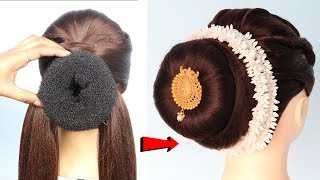 Latest Bridal Gajra Hairstyle || hairstyles for short hair || prom hairstyles || trending hairstyles