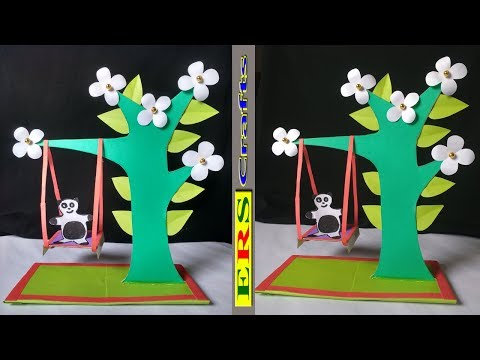 DIY-3D Awesome Paper Swing !!! How To Make A Very Beautiful Paper Swing !!!
