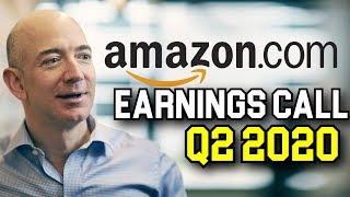 Amazon Stock Q2 2020 Earnings Call   AMZN Stock Analysis Apple Google Facebook