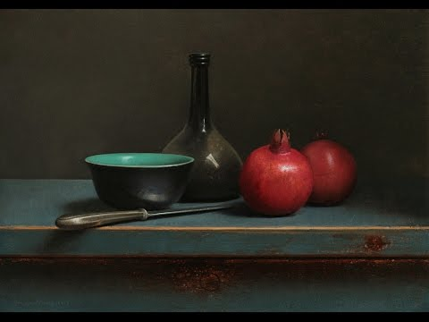 Old master inspired still life painting