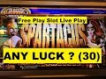 ★ANY LUCK ? Free Play Slot Live Play (30)★☆SPARTACUS COLOSSAL REELS Slot (WMS)☆$2.50 Bet