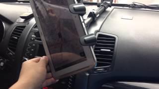 TAB-CM117 아콘 태블릿 거치대를 자동차에 장착하…