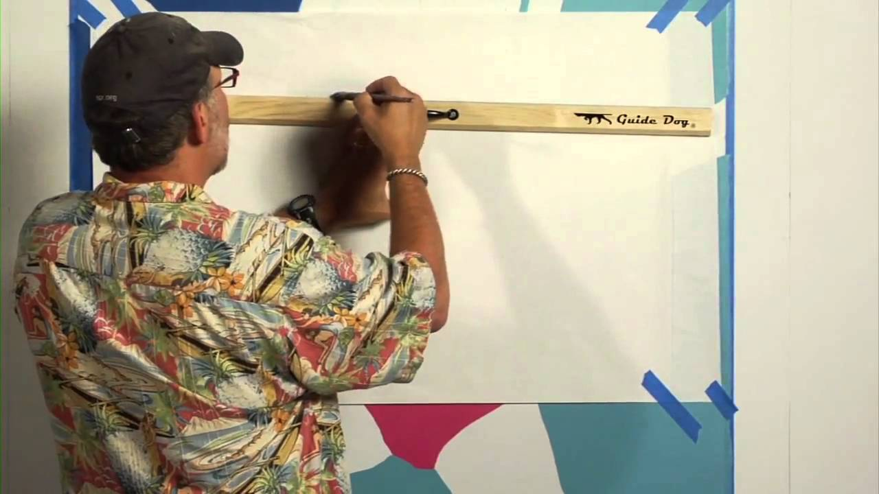 How To Draw Straight Line In Art Studio : Michael cooper shows you how to paint straight lines with a guide