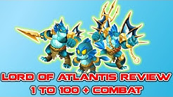 Monster Legends - Lord Of Atlantis 1 to 100 Review + Combat