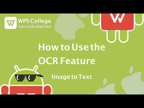 WPS Office Tutorial [Kingsoft Office] - How To Use The OCR Feature (image To Text)