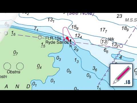 Moving a light beacon on an ADMIRALTY Standard Nautical Chart