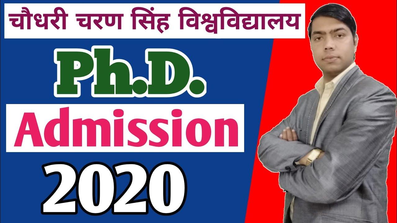 Ph.D. Admission 2020 | Ph.D. Admission Notification 2020 |CCS University Ph.D. Admission 2020