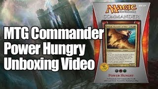 MTG Commander Deck 2013: Power Hungry Opening