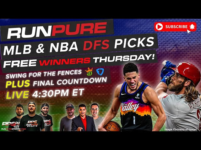 MLB & NBA DRAFTKINGS PICKS - THURSDAY JULY 8 - SWING FOR THE FENCES + FINAL COUNTDOWN