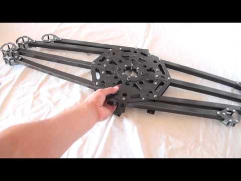SKU012 - Octocopter Foldable Frame - Carbon Fiber - Coptersk