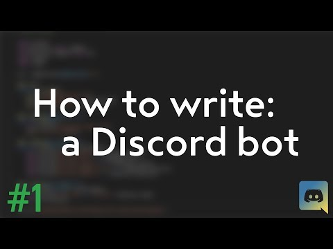 How to make your own Discord bot! (Discord.py tutorial) #1