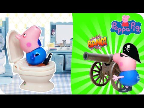 Peppa pig vários episódios: Pig George Dor de Barriga, Brincar na Praia, O Grade Susto em Português