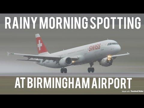 Rainy Morning Spotting At Birmingham International Airport!