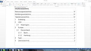Word automatisches Inhaltsverzeichnis und Seitenzahlen erstellen - Komplettkurs [Tutorial]